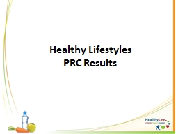 Healthy Lifestyles PowerPoint PPT Presentation