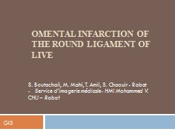 Omental infarction of the