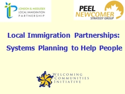 Local Immigration Partnerships: PowerPoint PPT Presentation