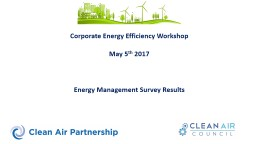 Corporate Energy Efficiency Workshop