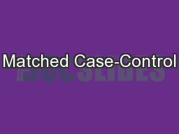 Matched Case-Control
