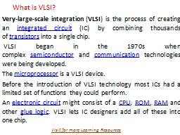 What is VLSI?