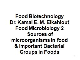 1 Food Biotechnology