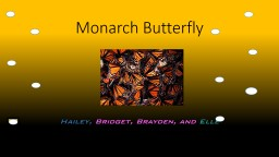 Monarch Butterfly PowerPoint PPT Presentation