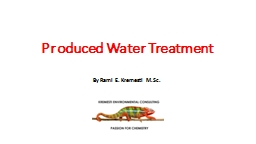 Produced Water Treatment PowerPoint PPT Presentation