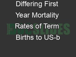 Differing First Year Mortality Rates of Term Births to US-b PowerPoint PPT Presentation