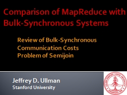Comparison of MapReduce with Bulk-Synchronous Systems