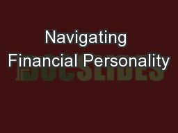 Navigating Financial Personality