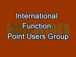 International Function Point Users Group PowerPoint PPT Presentation