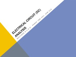 Electrical Circuit (DC) analysis PowerPoint PPT Presentation