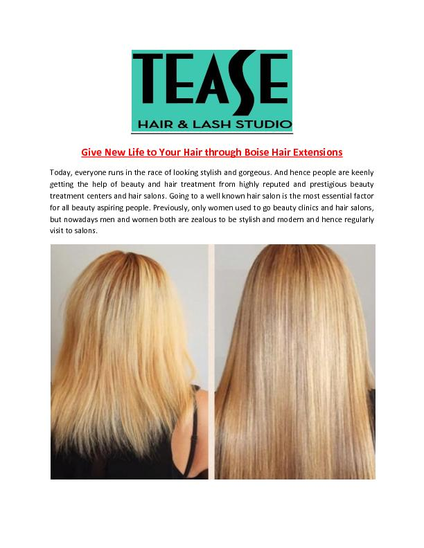 Give New Life to Your Hair Through Boise Hair Extensions