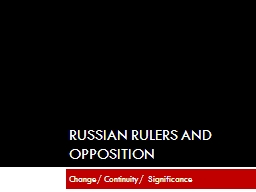 Russian rulers and Opposition