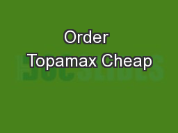 Order Topamax Cheap