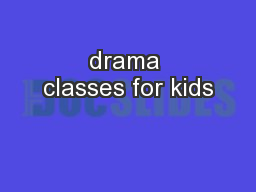 drama classes for kids