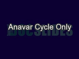 Anavar Cycle Only PowerPoint PPT Presentation