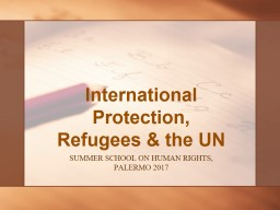 International Protection, Refugees & the UN