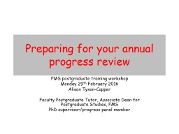 Preparing for your annual
