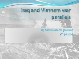 Iraq and Vietnam war parallels PowerPoint PPT Presentation