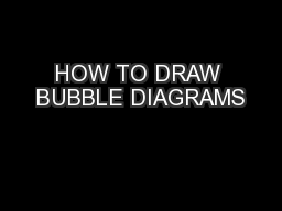 HOW TO DRAW BUBBLE DIAGRAMS