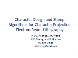 Character Design and Stamp Algorithms for Character Project
