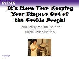 It�s More Than Keeping Your Fingers Out of the Cookie Dou