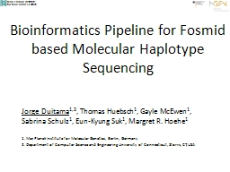 Bioinformatics Pipeline for Fosmid based Molecular Haplotyp