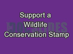 Support a Wildlife Conservation Stamp
