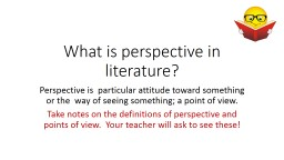 What is perspective PowerPoint PPT Presentation
