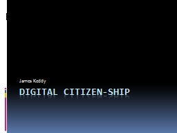 Digital citizen-ship
