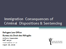Immigration consequences of criminal pleas and sentencing: