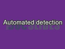 Automated detection