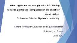 When rights are not enough: what is?- Moving towards 'pol