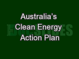 Australia's Clean Energy Action Plan