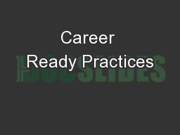 Career Ready Practices