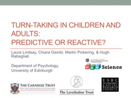 Turn-taking in children and adults: