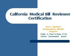 California Medical Bill Reviewer Certification