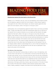 Blazing holy fire church