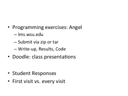 Programming exercises: Angel PowerPoint PPT Presentation