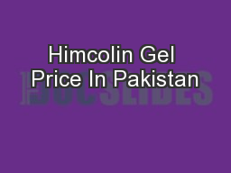 Himcolin Gel Price In Pakistan