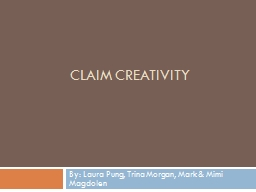 Claim Creativity