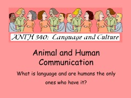 Animal and Human Communication