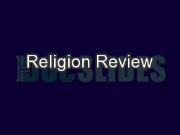 Religion Review PowerPoint PPT Presentation