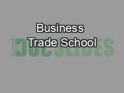 Business Trade School