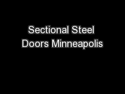 Sectional Steel Doors Minneapolis