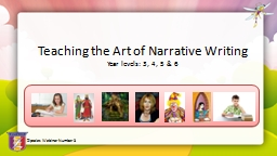 Teaching the Art of Narrative Writing PowerPoint PPT Presentation