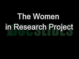 The Women in Research Project
