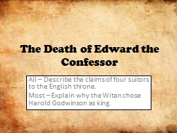 How did Edward's death cause problems?