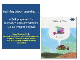 Learning about Learning. . . .