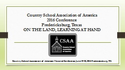 Country School Association of America