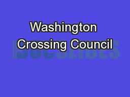 Washington Crossing Council